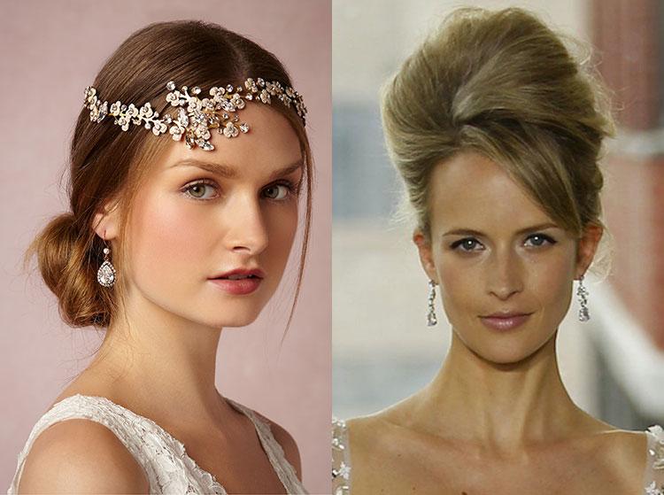 Объемная причёска на свадьбу