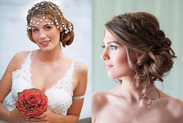Шикарные свадебные прически на средние волосы