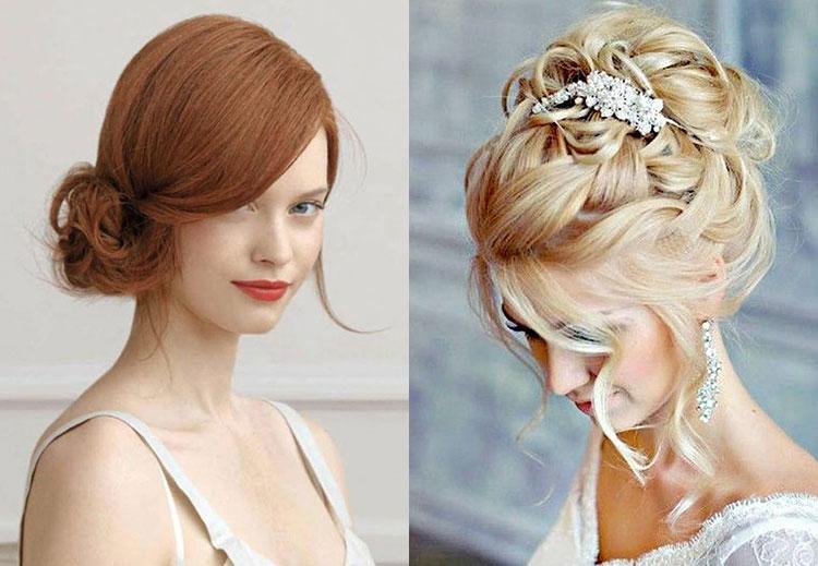 Свадебная прически на средние волосы