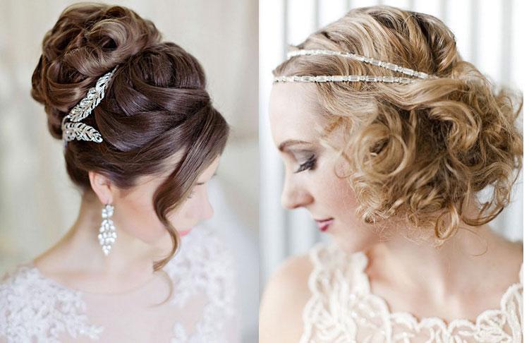 Свадебные прически на средние волосы и красивые локоны