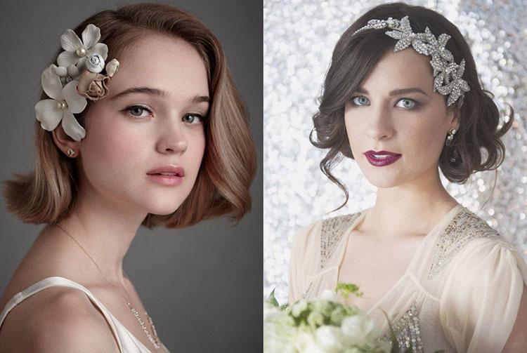 Красивые свадебные прически на средние волосы
