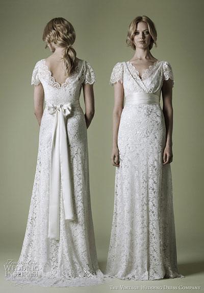 Кружевное свадебное платье: фото и описания стилей