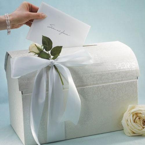 Украшение коробки для подарков на свадьбу