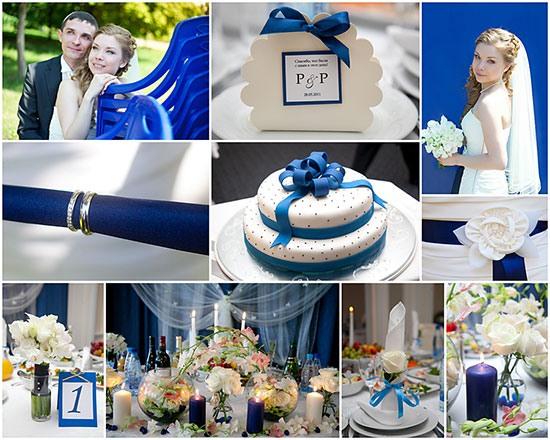 свадьбы в синем цвете фото