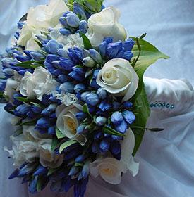 Свадьба в бело синем цвете: оформление торжества, идеи