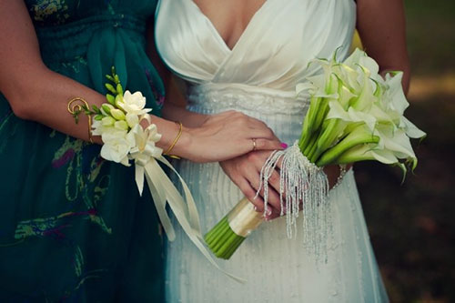 Свадебный букет с каллами