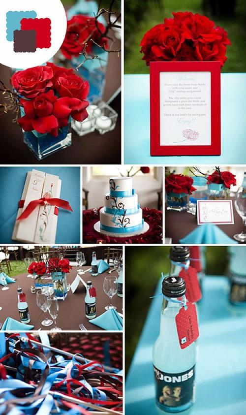 оформление цветных свадеб фото 2