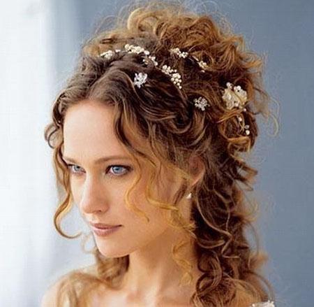 Свадебная прическа на средине волосы фото 3