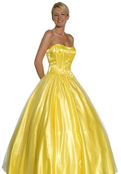 Зеленое и желтое свадебные платья
