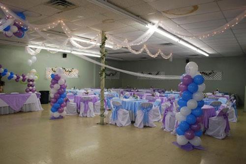 как сделать украшение для зала на свадьбу своими руками
