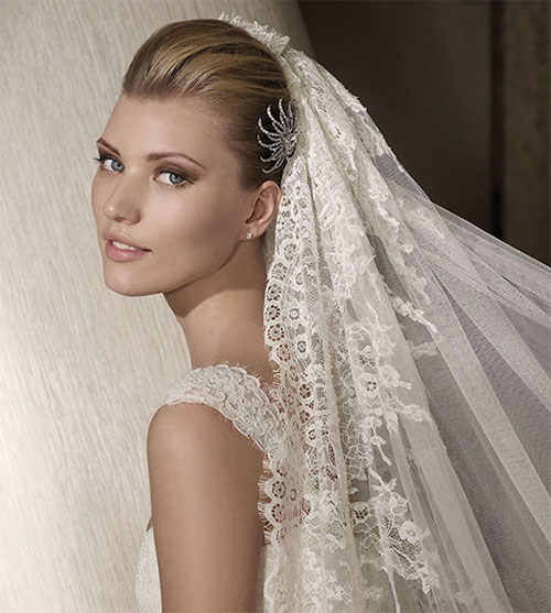 Свадебная прическа с фатой с фото и описанием