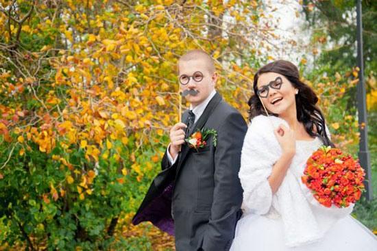 Оригинальные и интересные идеи для свадебной фотосессии фото 5