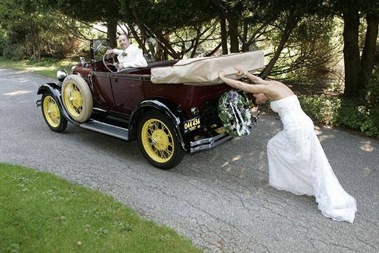 Оригинальные и интересные идеи для свадебной фотосессии фото 3