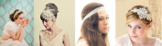 Аксессуары из кружева для волос