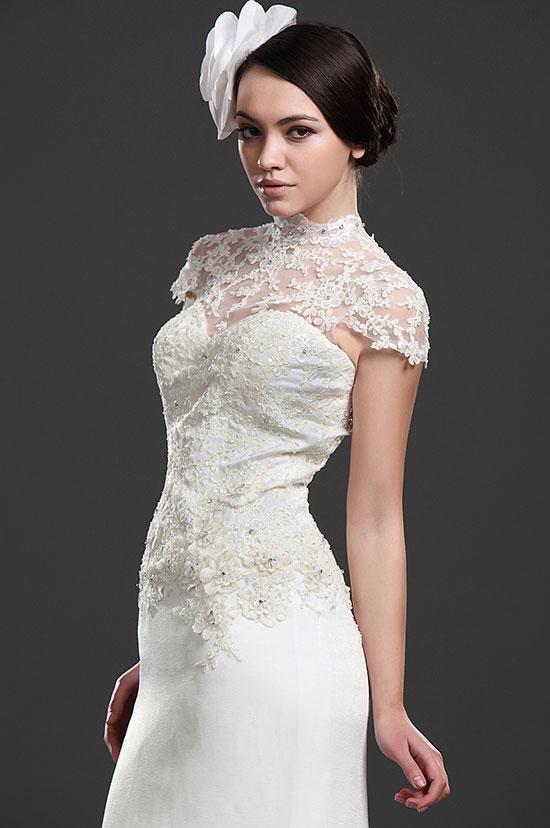 на фото: Варианты свадебных платьев с кружевом