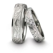 Обручальные кольца из платины фото 3