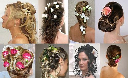 Свадебные прически с цветами фото 1