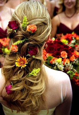 Свадебные прически с цветами фото 3-1