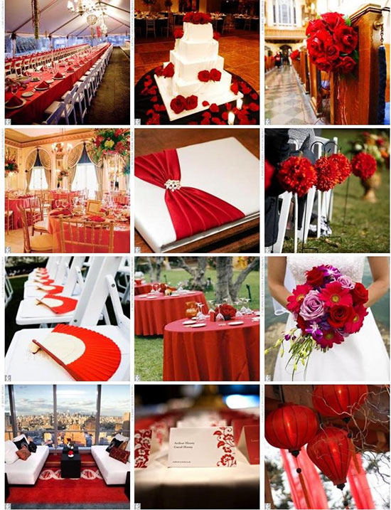 свадьба в красном цвете фото 1
