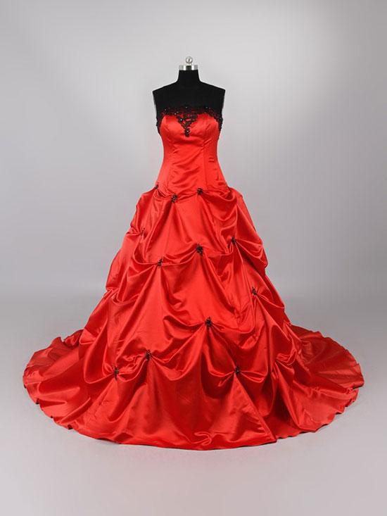 красное свадебное платье фото 11