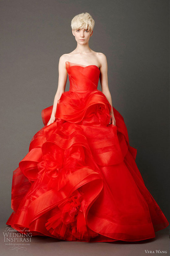 красное свадебное платье фото 12