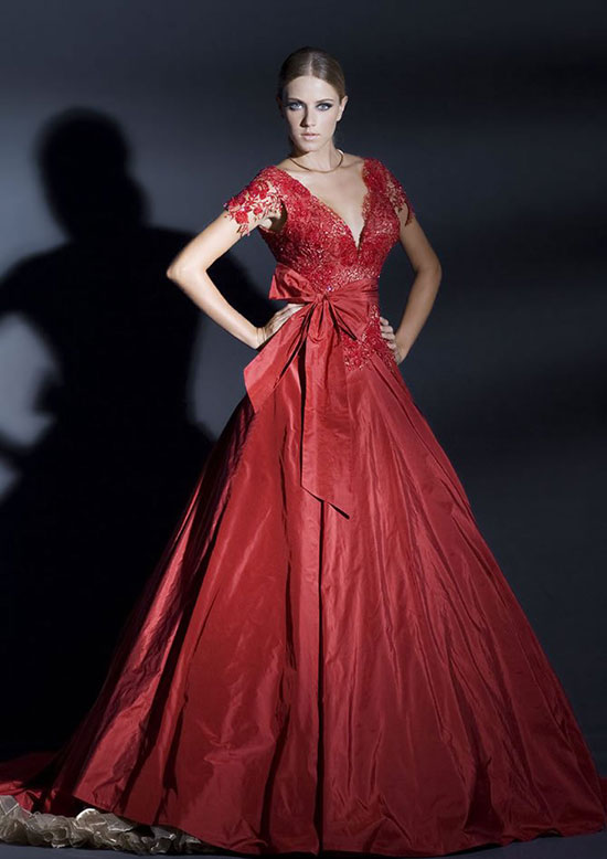 красное свадебное платье 13
