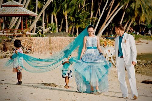 Свадьба в морском стиле с фото и описанием