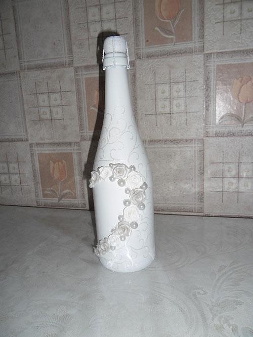 Украсить шампанское на свадьбу своими руками мастер