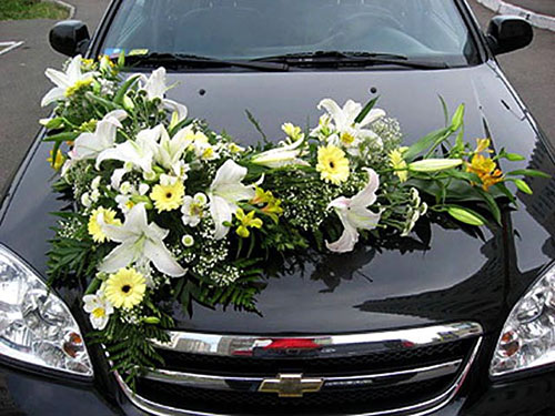 как сделать свадебные украшения для машин своими руками