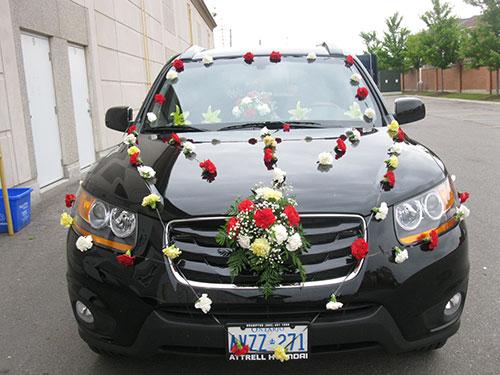 как сделать самой украшение для свадебной машины своими руками