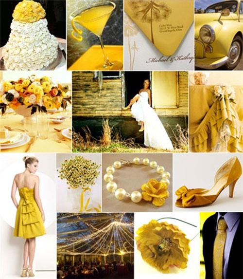 Свадьба в желтом цвете фото 1