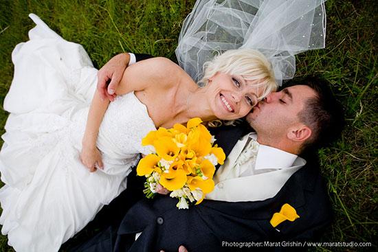 Свадьба в желтом цвете фото 12
