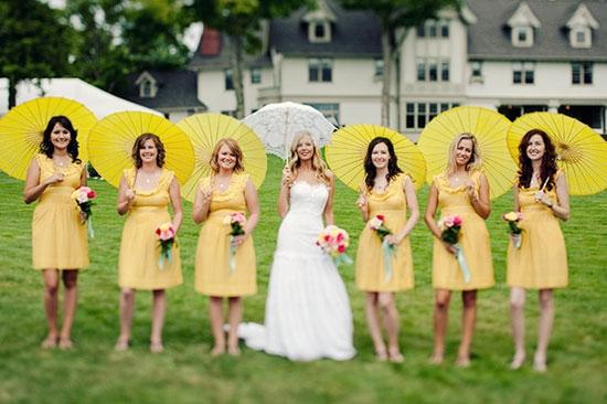 Свадьба в желтом цвете фото 3