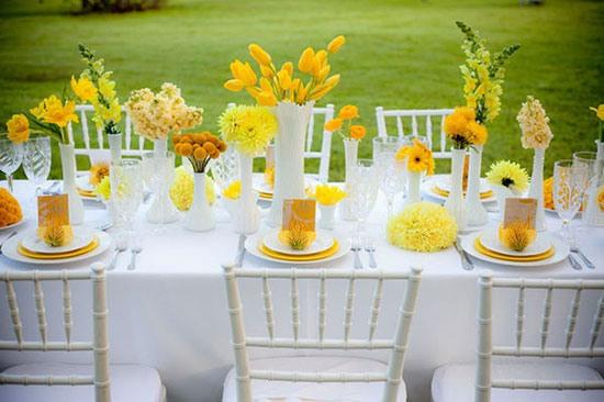 Свадьба в желтом цвете фото 7