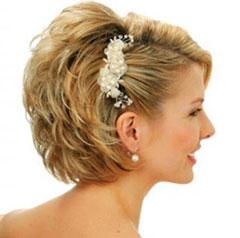 свадебные прически на короткие волосы фото 9