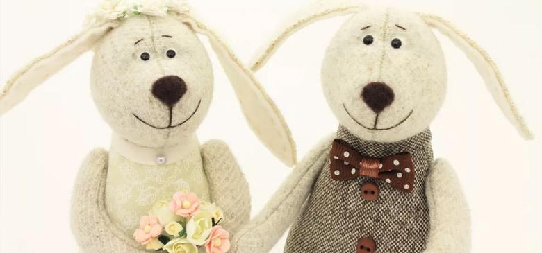 Интерьерные зайчики на свадьбу