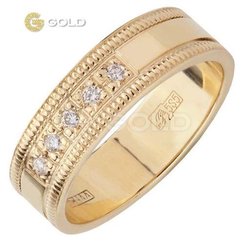 свадебное белое золото кольца