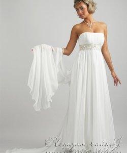 Колір сукні  Білий   Слонова кістка. Довжина сукні  Довге Фасон сукні   Вузьке (пряме) Додатково  відкрите e6a76166b15b8
