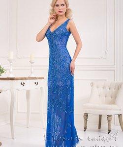 Світла чайка  - весільний стиль та вечірня мода. Колір сукні  Блакитний    Синій Довжина сукні  Довге Фасон сукні  Вузьке (пряме) Додатково  з  мереживом c8ae973dd38e8