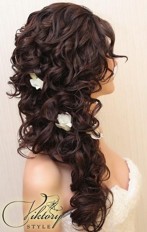 Свадебные прически на длинные волосы: 41 фото, видео