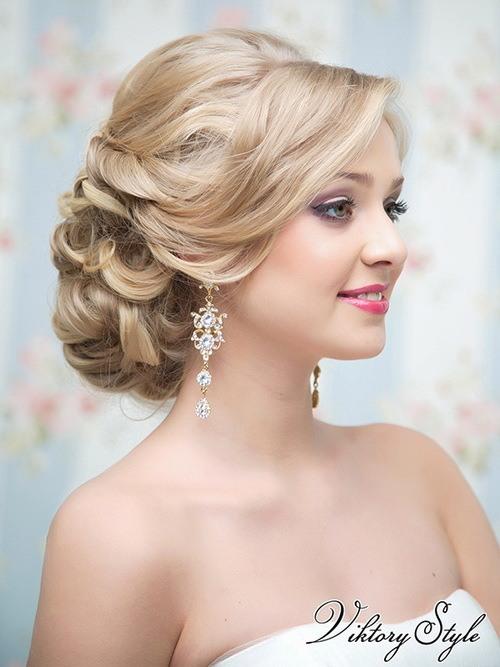 Свадебная прическа коса - 9