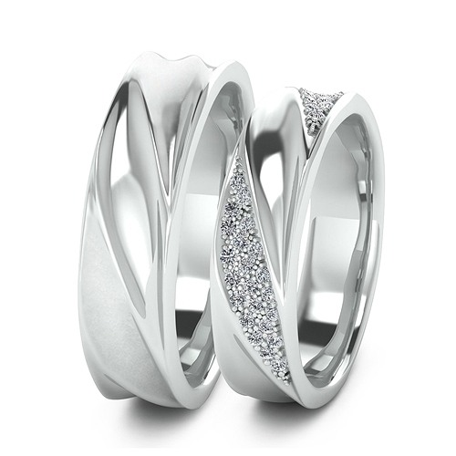 765692275927 Обручальные кольца арт. 383 в Москве - цена 29000 - 50000 ₽, белое ...