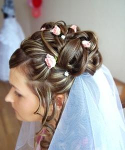 Свадебная прическа + макияж