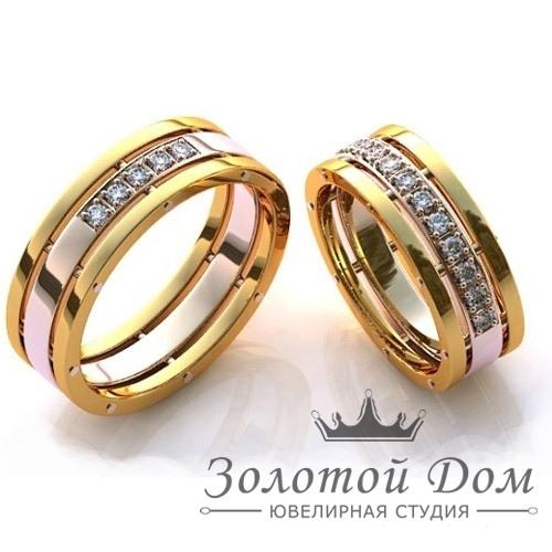 обручальные кольца белое золото каталог
